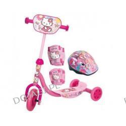 Hulajnoga trójkołowa z tabliczką Hello Kitty