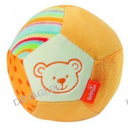 Mała piłka z grzechotką Niedźwiadek pomarańczowy Fehn