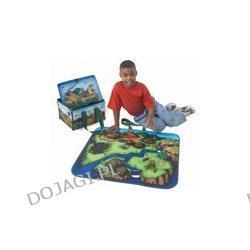 Kuferek wielofunkcyjny z zabawkami dinozaury
