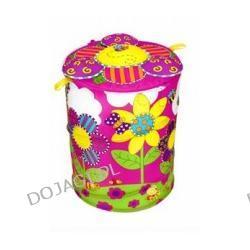Kosz na zabawki w kwiatki (okrągły)
