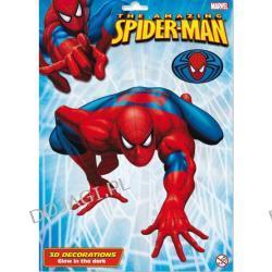 Dekoracja świecąca w ciemności 3D Spiderman - śred