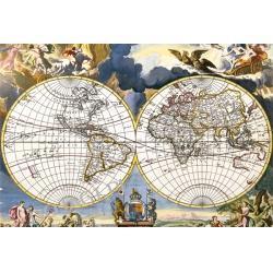 Mapa Johanne A.Loon - Puzzle drewniane 500 elementów