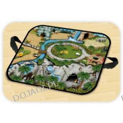 Kuferek mini wielofunkcyjny z zabawkami - Zoo Zip Bin