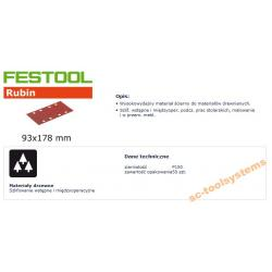 FESTOOL ARKUSZE ŚCIERNE 93x178 P150