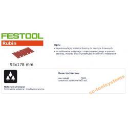 FESTOOL ARKUSZE ŚCIERNE 93x178 P120
