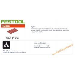 FESTOOL ARKUSZE ŚCIERNE 80x133 P 100