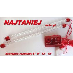 2 x TUBY NEONY 9' 24 LED RED  NAJTANIEJ !!!
