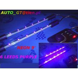 2 x TUBY NEONY 9' 24 LED ZIELONE  FIOLET UV