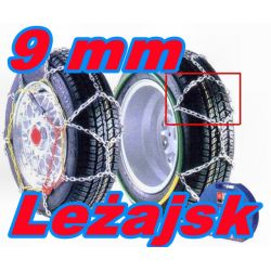 ŁAŃCUCHY ŚNIEGOWE KN 120 9 mm KPL Certyf TUV SLIM!