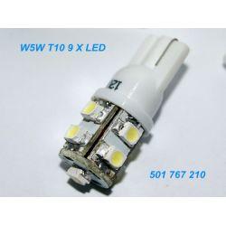 Dioda LED L018 - W5W 9 x SMD3528 LED 0,72 W biała