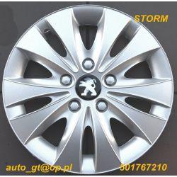 Kołpaki STORM 15  emblematy GRATIS AUDI FORD VW-