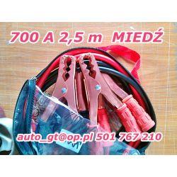 KABLE ROZRUCHOWE 700 A 250 cm MIEDŹ dobre i tanie