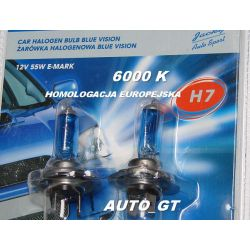 ŻARÓWKA SUPER WHITE 12V H7 55 COOL BLUE + 30 %