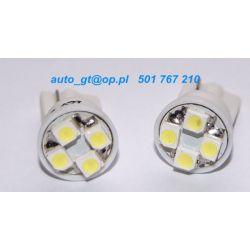 Dioda LED L017 - W5W 4xSMD3528 led 0,38 Wat biała