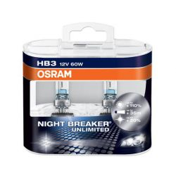 ŻARÓWKA OSRAM NIGHT BREAKER UNLIMITED HB3 Duo+110%