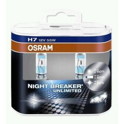 ŻARÓWKA OSRAM NIGHT BREAKER UNLIMITED H7 Duo +110%